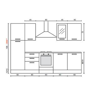 Cucina 2 metri idea d 39 immagine di decorazione - Cucina lineare 3 metri ...