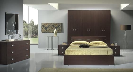 Camera da letto TOMI Olmo Dark completa - Forniture Mobili