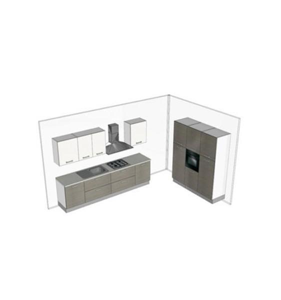 Cucina componibile PEOPLE moderna 1,80+3,00 metri - Forniture Mobili