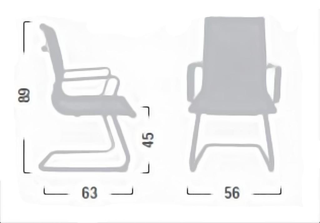 Sedia poltrona attesa visitatore linea kira kr18 - Sostituire seduta sedia ...